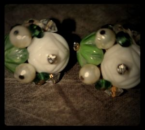 VERDOME 1960s Clip on Vintage Earrings